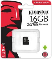 Карта памяти Micro SD 16GB Class 10 U1 Kingston SDCS/16GBSP