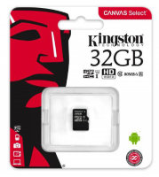 Карта памяти Micro SD 32GB Class 10 U1 Kingston SDCS/32GBSP