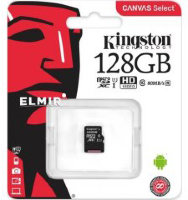 Карта памяти Micro SD 128GB Class 10 U1 Kingston SDCS/128GBSP