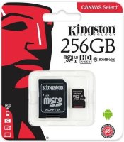 Карта памяти Micro SD 256GB Class 10 U1 Kingston SDCS/256GBSP